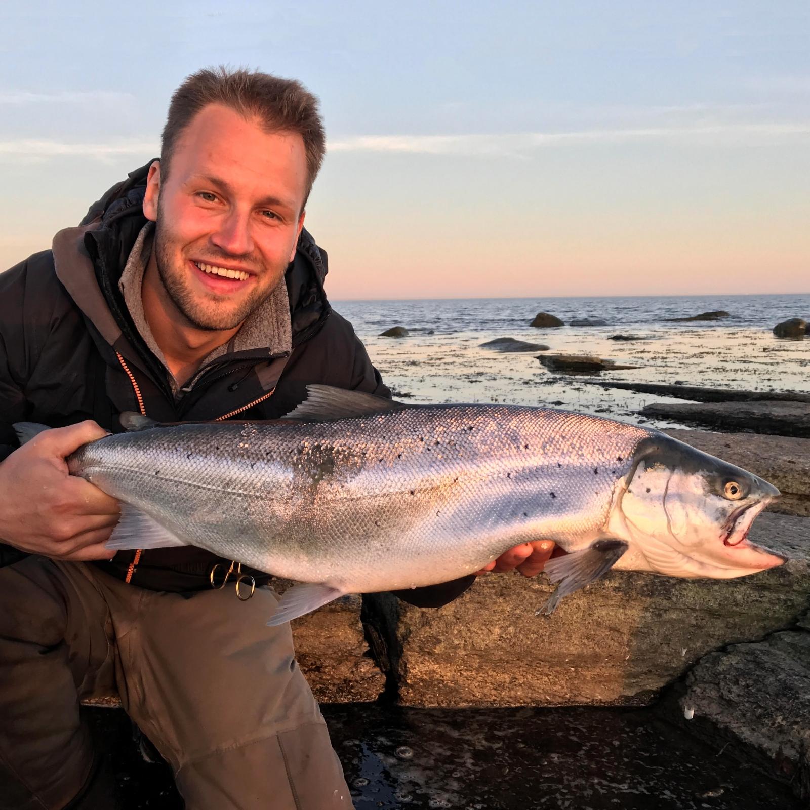 Havørred på 67 cm og 3.70 kg fra Sverige, Udlandet -  fanget på Sømmet - 16g # 7288